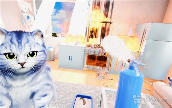 在VR里撸猫