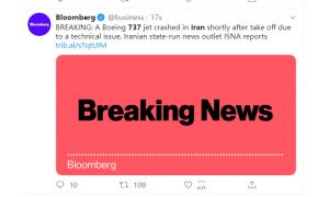 波音:准备好为波音737客机在伊朗坠毁的事故提