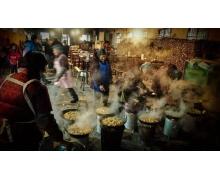 徽州名菜一品锅是人们冬季常吃的美食做法是把