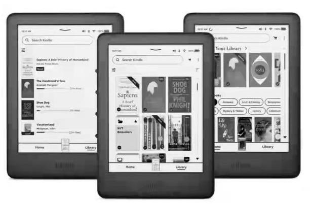 亚马逊为 Kindle 更新系统 界面焕然一新